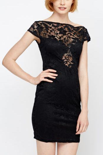 Dámske šaty čipkované Samira - čierne