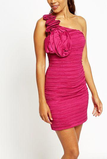 Dámske ružové spoločenské šaty Perla