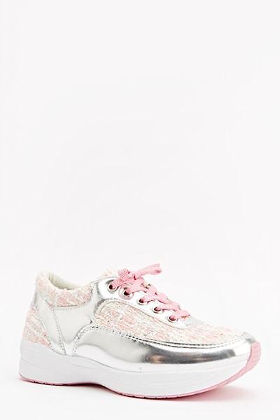Dámske tenisky - ružové strieborné
