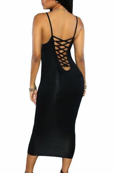 Čierne dámske šaty Wendy