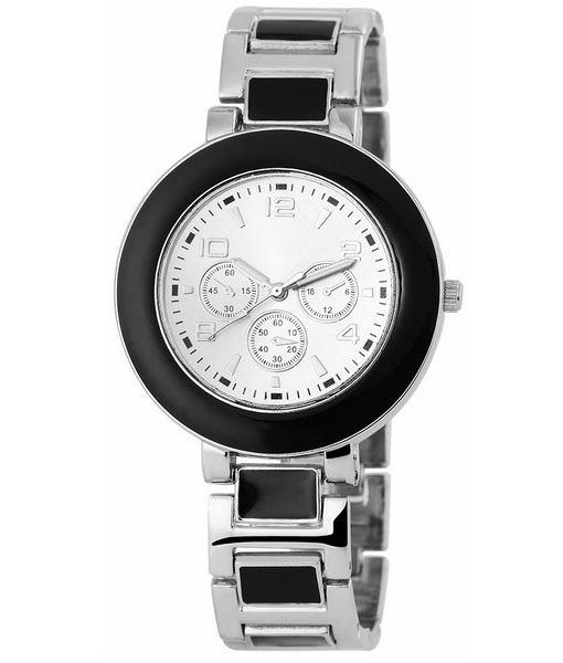Dámske hodinky Belle strieborné čierne