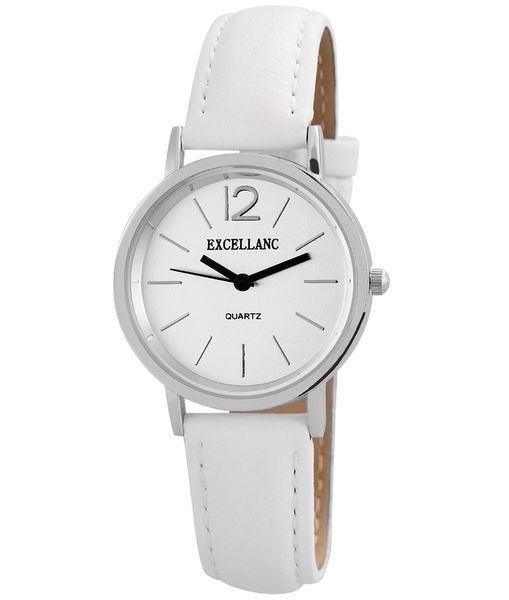 Dámske hodinky Excellanc biele strieborné