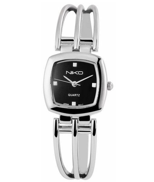 Dámske hodinky Carine strieborné Black