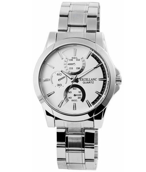 Pánske kovové hodinky Excellanc strieborné