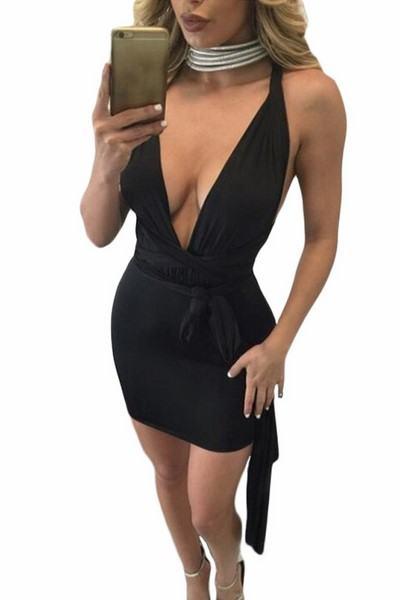 Dámske mini šaty Azaria - čierne