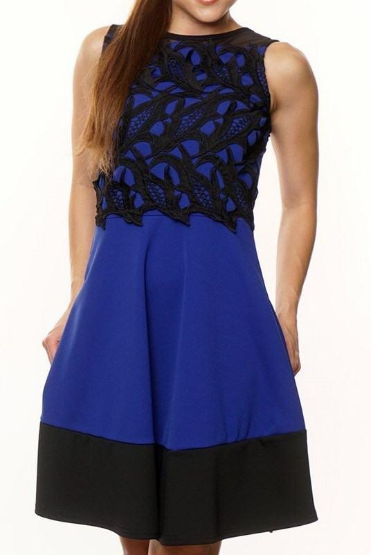 Dámske čipkované šaty Mira modré