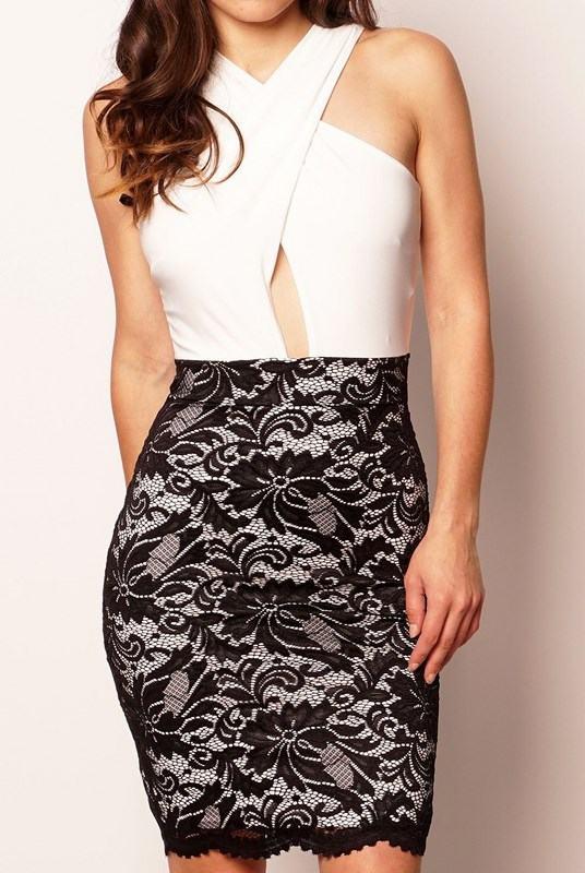 Dámske šaty Dixie čierne biele