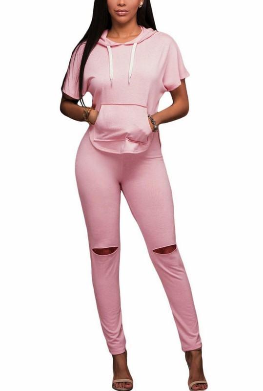 Dámska trendy súprava Keily - ružová