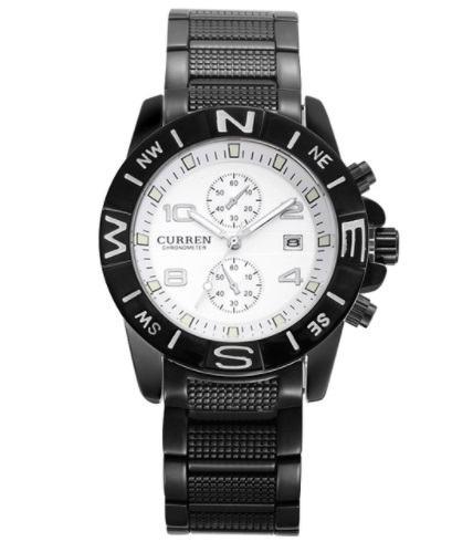 Pánske hodinky Curren - čiernobiele