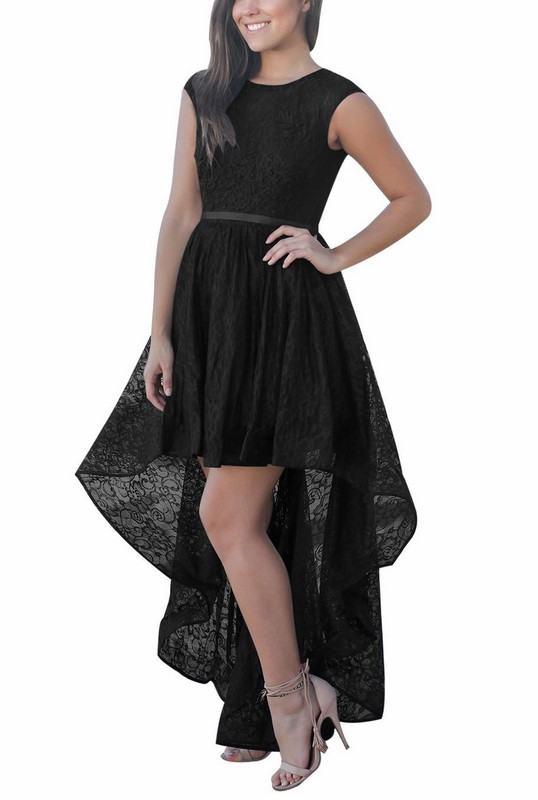 Čipkované dámske čierne šaty Lindsey