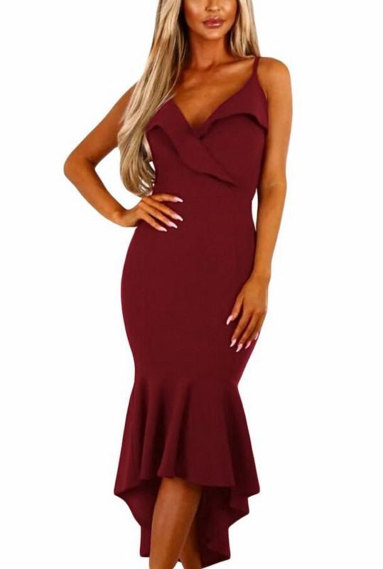 Dámske burgundy šaty Samantha