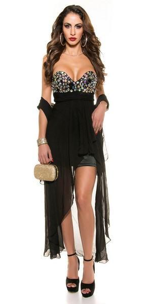 Dámske spoločenské čierne šaty Noelia