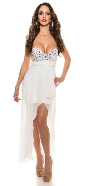 Dámske spoločenské biele šaty Noelia