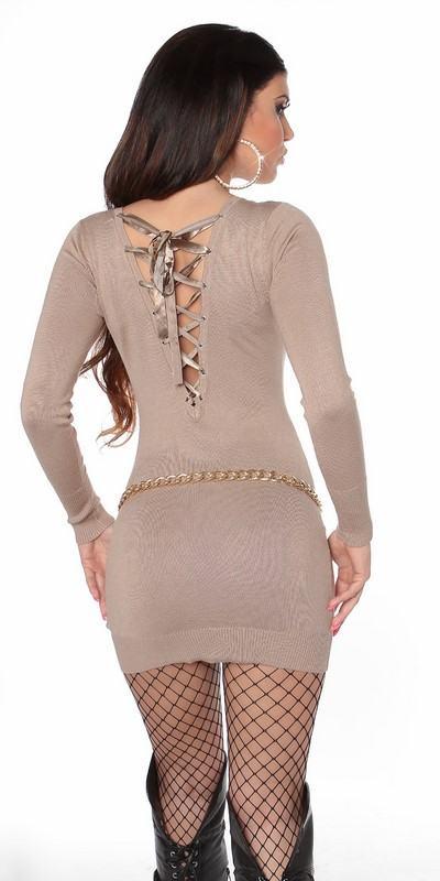 Béžové dámske mini šaty Priscilla