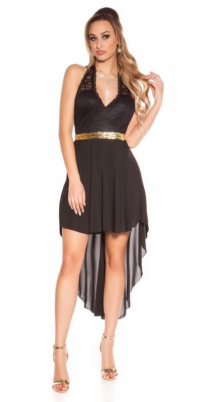 Čierne dámske šaty s čipkou Deborah
