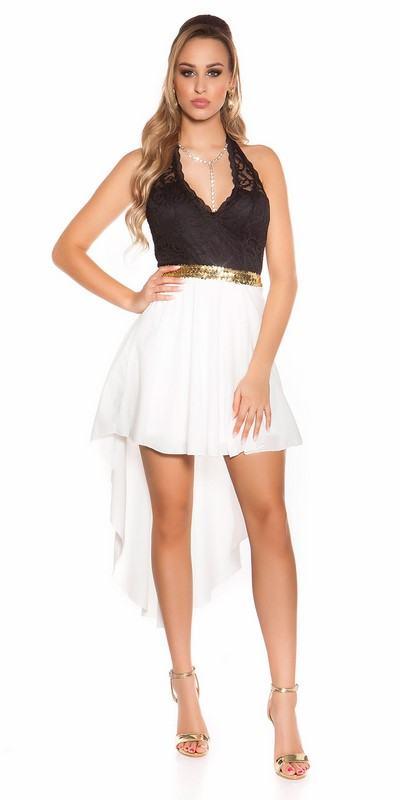 Biele dámske šaty s čipkou Deborah