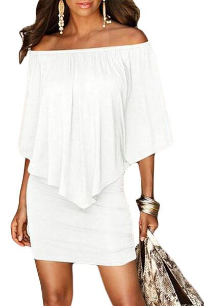 Vrstvené mini šaty Vivien - biele