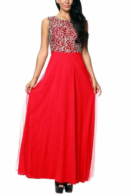 Dlhé dámske šaty Renata - červené