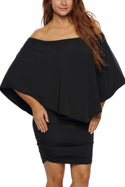 Vrstvené mini šaty Vivien - čierne