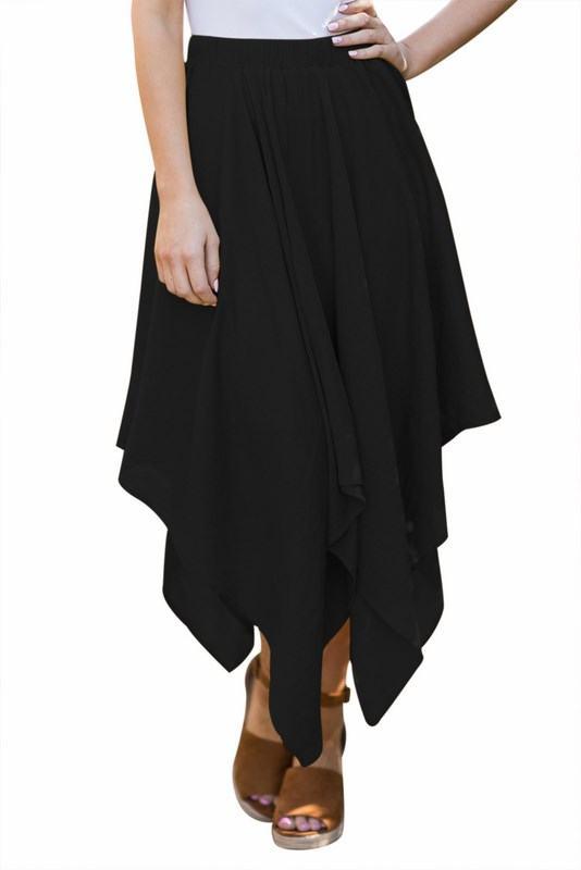 Dámska nepravideľná sukňa - čierna