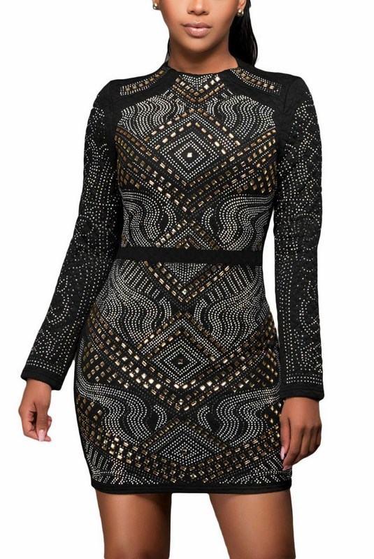 Vykladané dámske šaty Nicole - čierne