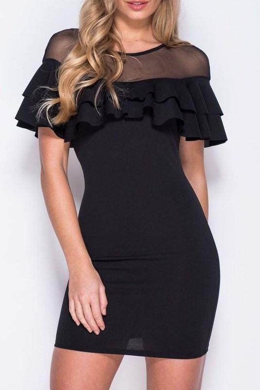 Dámske čierne šaty Sarah