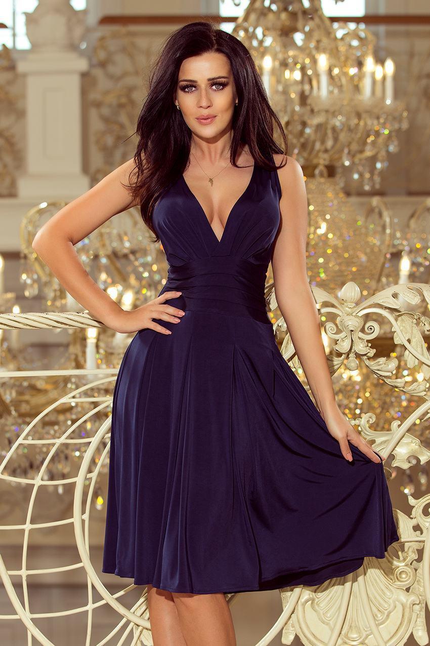 Dámske modré šaty BETTA 219-1
