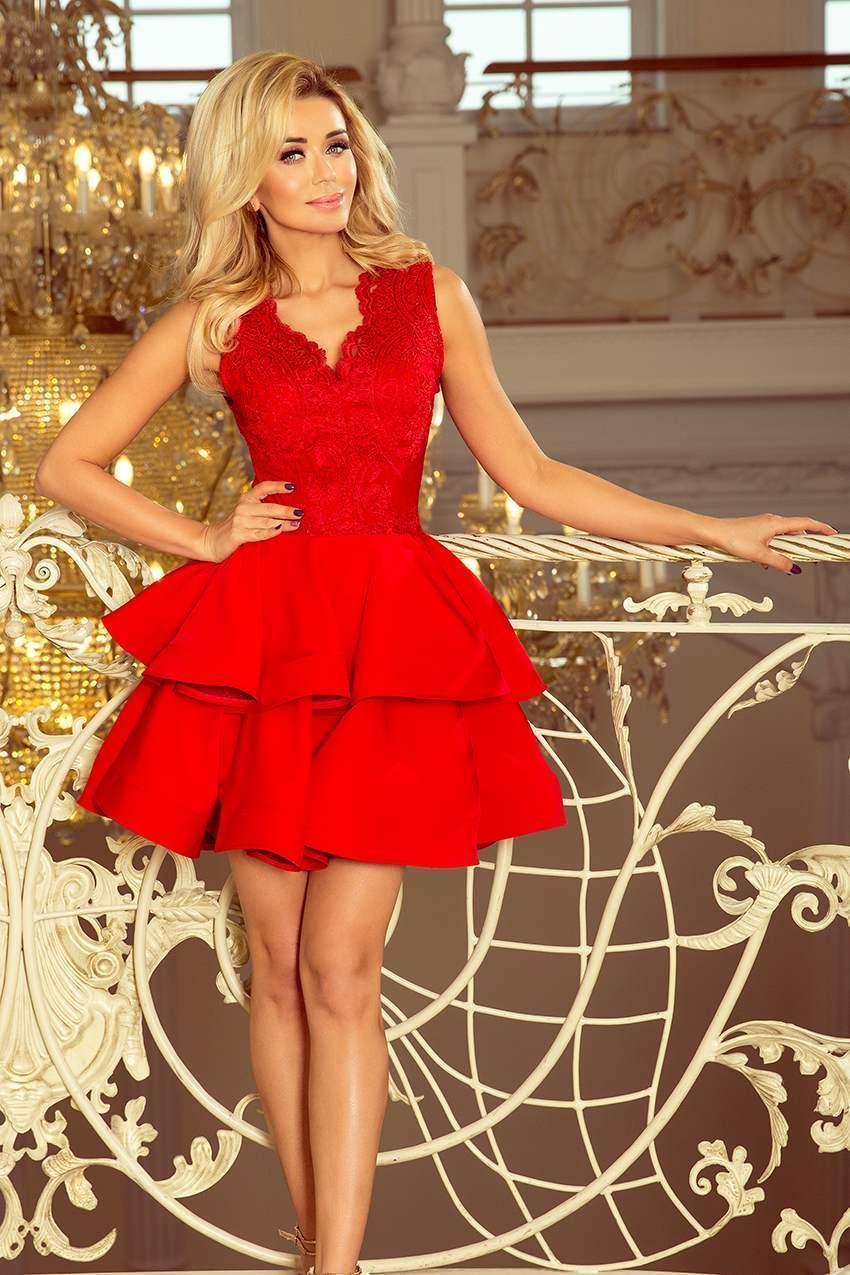 Dámske červené mini šaty VIOLA 200-4