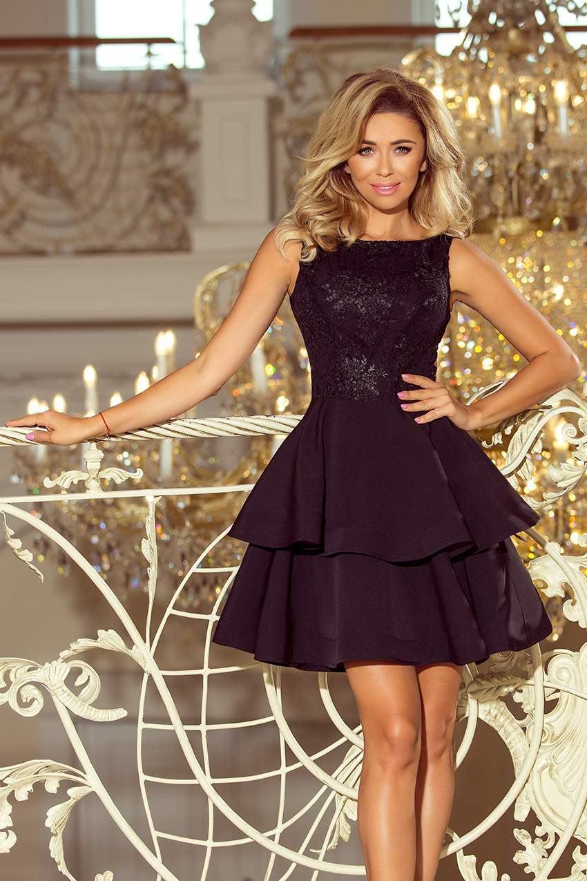 Dámske čierne mini šaty DONNA 206-2