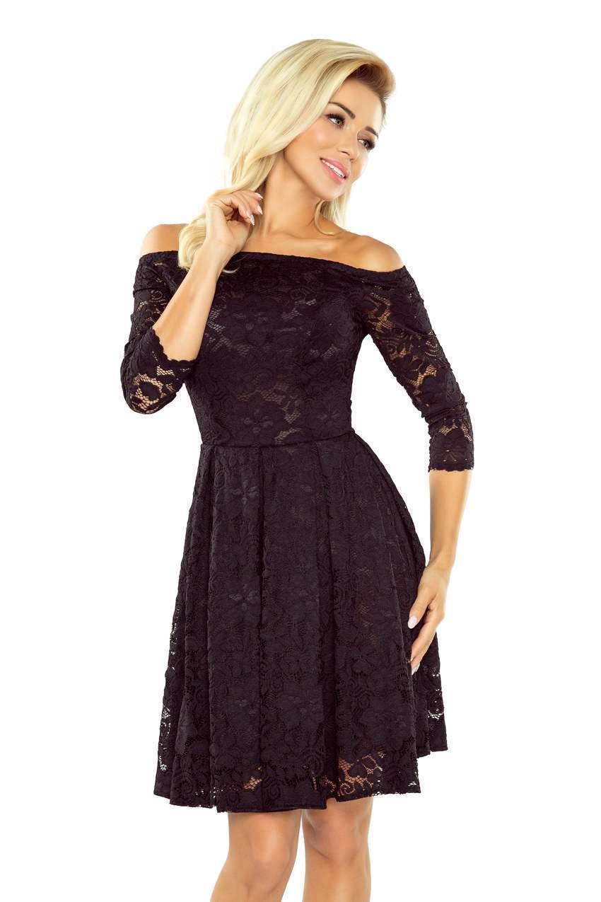 Čierne čipkované šaty Sarafin 168-1