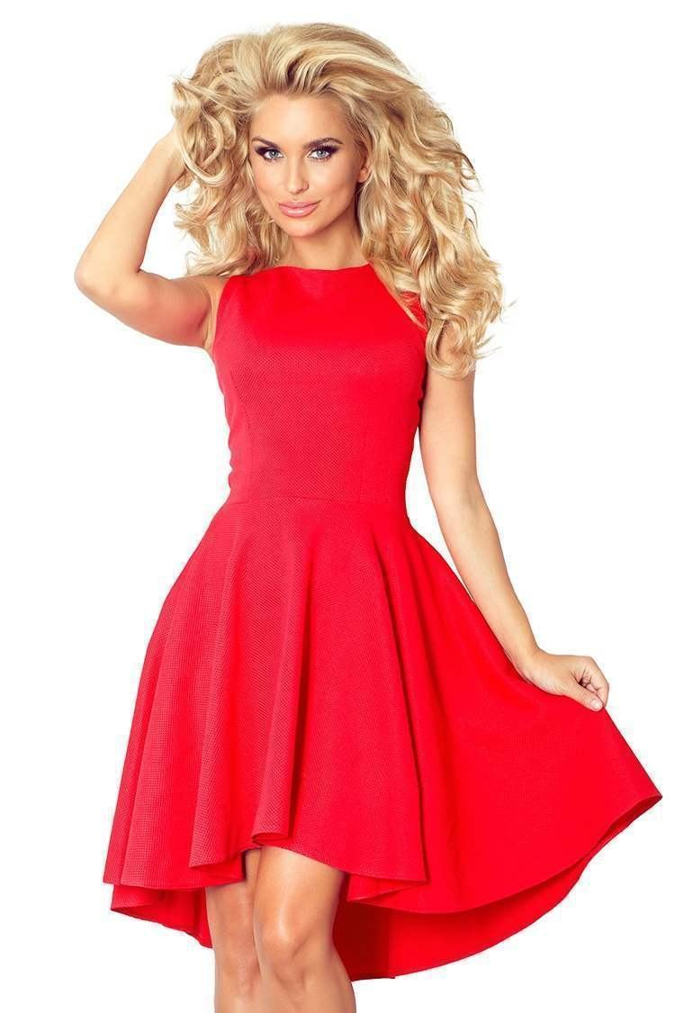 Atraktívne dámske šaty Nancy červené 66-12