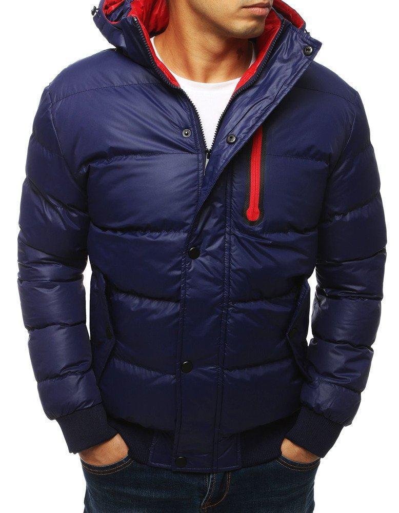 Teplá pánska zimná modrá bunda tx2930