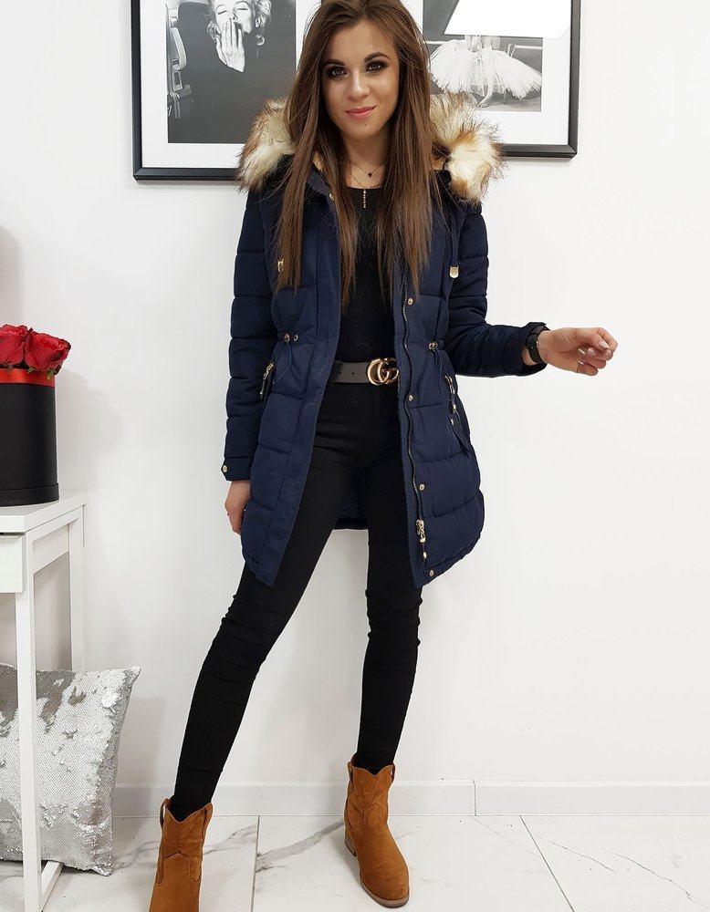 Dámska moderná modrá zimná bunda ty1067