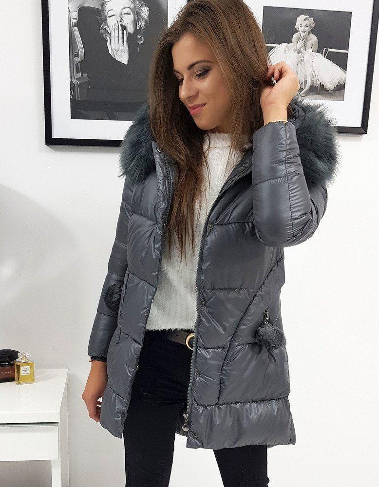 Tmavosivá dámska zimná bunda ty0907