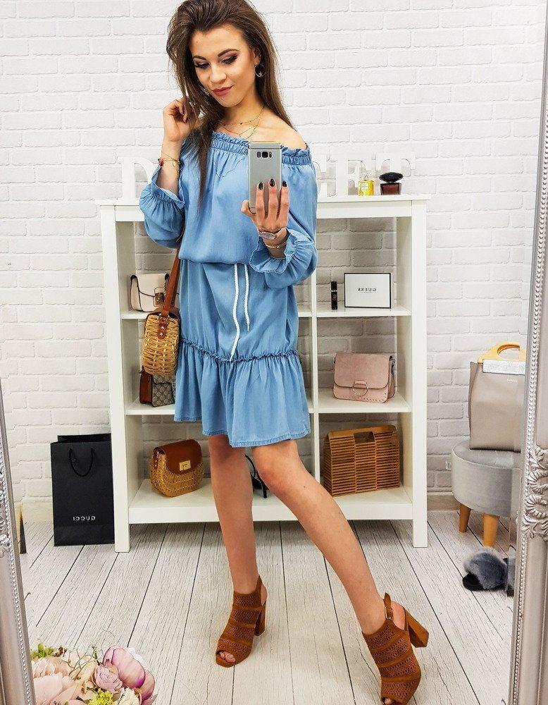 Dámske modré šaty HONORA ey0815