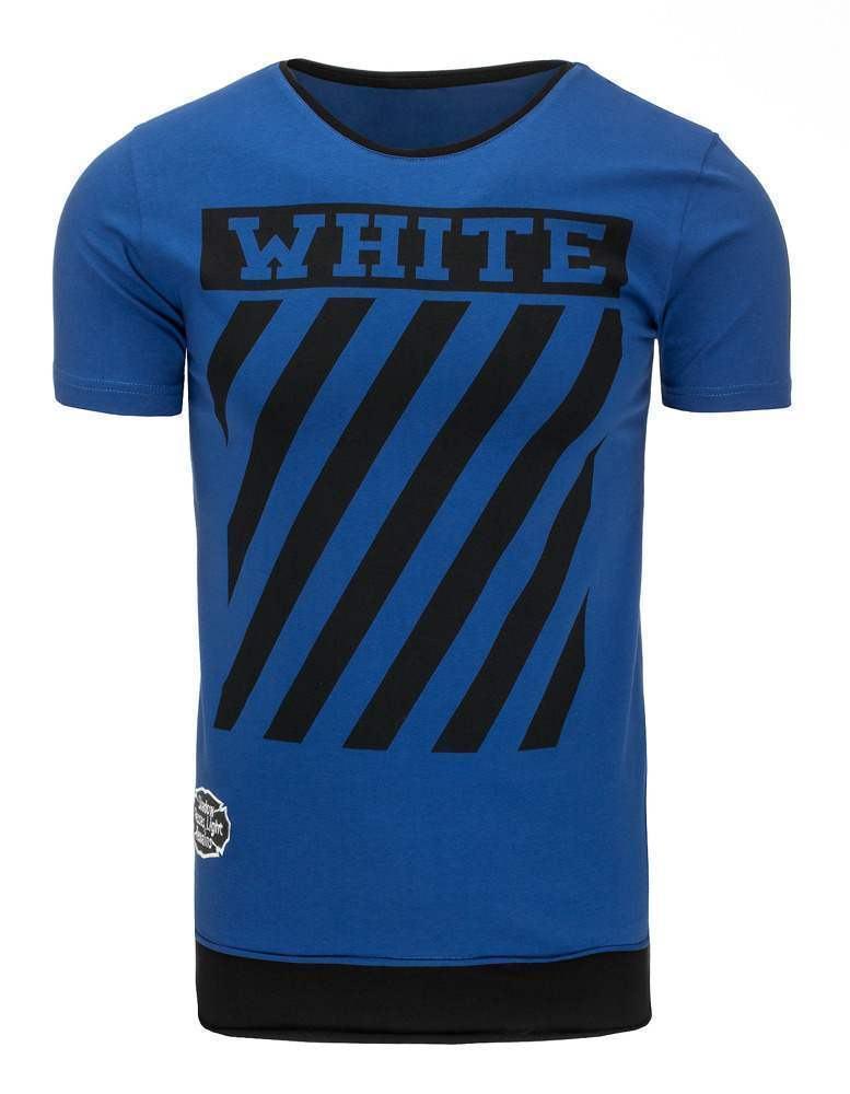 Pohodlné pánske tričko modré rx2175