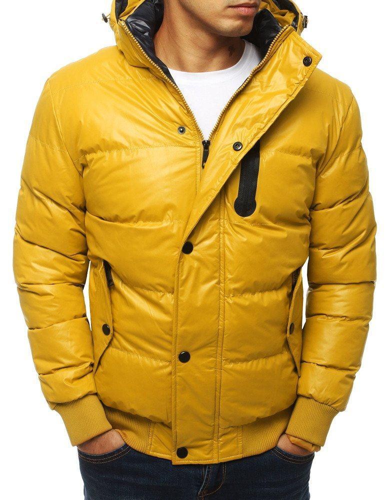 Teplá pánska zimná žltá bunda tx2932