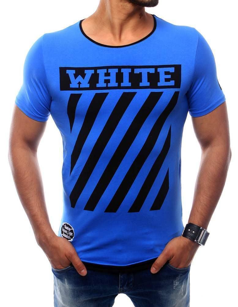 Pohodlné pánske tričko svetlo modré rx2566