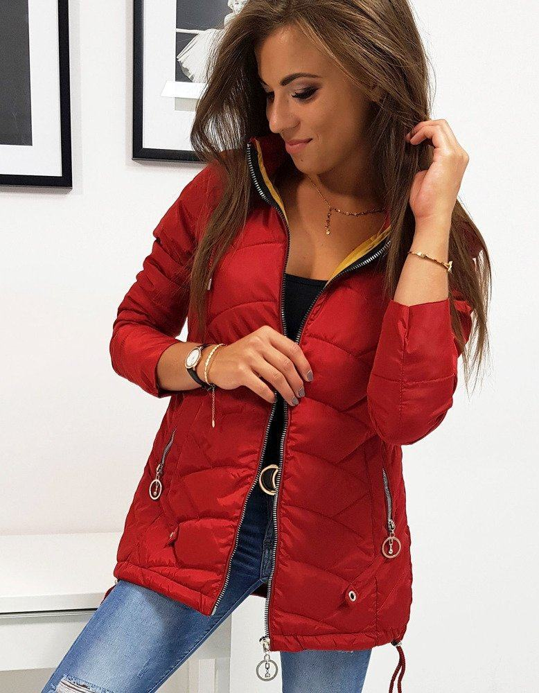 Červená štýlová dámska bunda ty0813