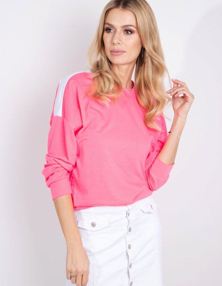 Dámska neónová ružová mikina by0184